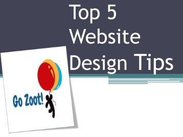 Top 5 Website Design Tips