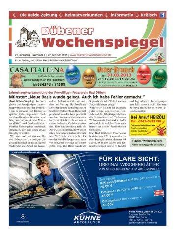 Dübener Wochenspiegel - Ausgabe 04 - 27-02_2013
