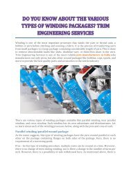 Do You Know About The Various Types Of Winding Packages