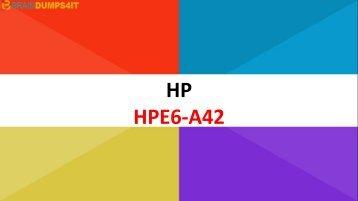 HPE6-A42 Braindumps