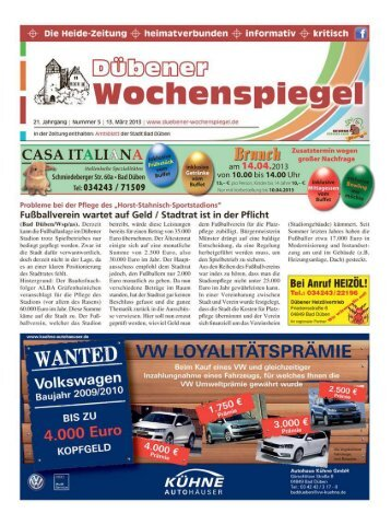 Dübener Wochenspiegel - Ausgabe 05 - 13-03_2013