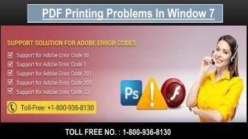 Fix PDF Printing Problems, Dial 1-800-936-8130