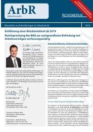 Arbeitsrecht Sonderinfo: Brückenteilzeit/Befristung