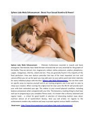 Sphere Labs Male Enhancement :  Make Your Sexual Life Better!