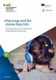 Pop songs and the stories they tell