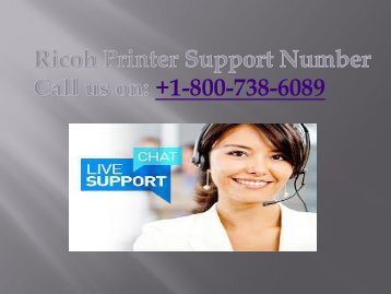 +1-800-738-6089  Ricoh Printer Support Number
