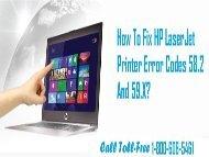 Fix HP LaserJet Printer Error Codes 58.2 And 59.X Call 1-800-608-5461