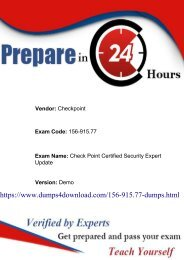 Checkpoint 156-915.77 Exam Dumps with PDF Download