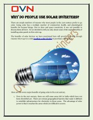 Why Do People Use Solar Inverters