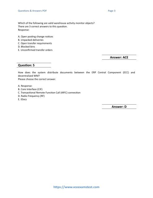 Questions & Answers PDF P