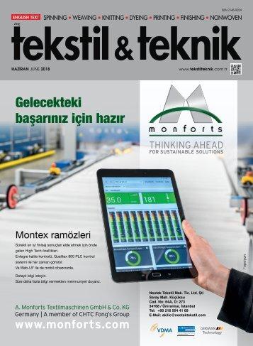 Tekstil Teknik Haziran 2018