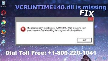 Fix Windows vcruntime140.dll Missing Error 1-800-220-1041 Call