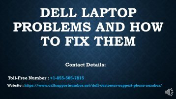 Looking for Dell Customer Support Number? +1-855-505-7815
