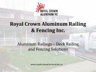 Aluminum Railings – Deck Railing and Fencing Solutions