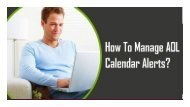 1-800-488-5392 Manage AOL Calendar Alerts