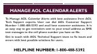 1-800-488-5392 Manage AOL Calendar Alerts - Page 2