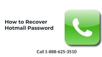 How to Recover & Reset Hotmail Password