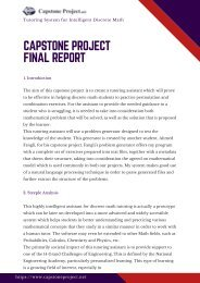 Capstone Project Final Report Sample