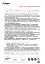 Theuma Group General Terms and Conditions English