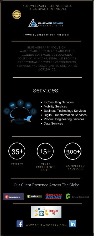 Mobile App Development Company _ Bluewebspark Technologies _ IT Company in Indore