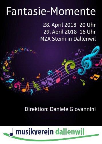 Konzertprogramm Jahreskonzert 2018
