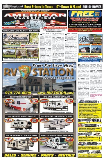 American Classifieds/Thrifty Nickel  June 21st Edition Bryan/College Station