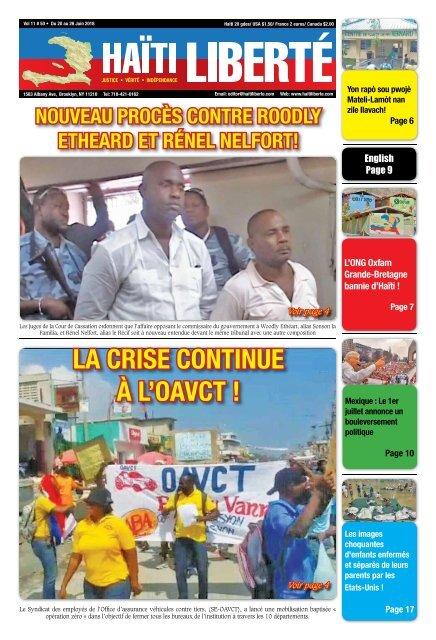 Haiti Liberte 20 Juin 2018