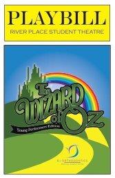 2017 - 2018 Wizard of Oz Playbill