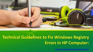 Technical Guidelines to Fix Windows Registry Errors in HP Computer