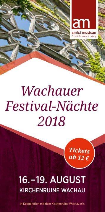Wachauer Festival-Nächte 2018 // Faltflyer