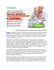 Pryazine Male Enhancement - Get More Sexual Potential & Stamina!