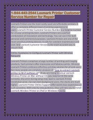 1-844-443-2544 Lexmark Printer Customer Service Number for Repair.output