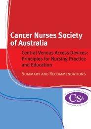 CVAD Guidelines Summary - Cancer Nurses Society of Australia