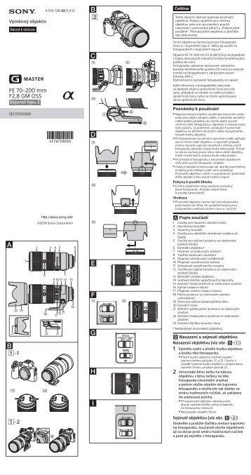 Sony SEL70200GM - SEL70200GM Istruzioni per l'uso Ceco