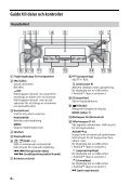 Sony CDX-G1200U - CDX-G1200U Consignes d'utilisation Suédois - Page 4