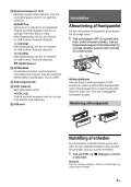 Sony CDX-G1200U - CDX-G1200U Consignes d'utilisation Danois - Page 5