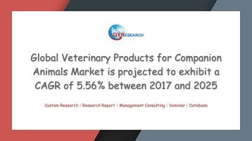 Global Veterinary Products for Companion Animals Market is projected to exhibit a CAGR of 5.56
