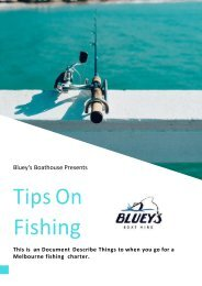 FISHING CHARTERS - THE BEST TIME TO GO FISHING!
