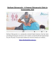Barham Chiropractic - A Famous Chiropractic Clinic in Toowoomba, QLD
