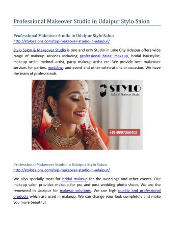 Professional Makeover Studio in Udaipur Stylo Salon