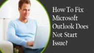 1-800-208-9523 Fix Microsoft Outlook Does Not Start Issue