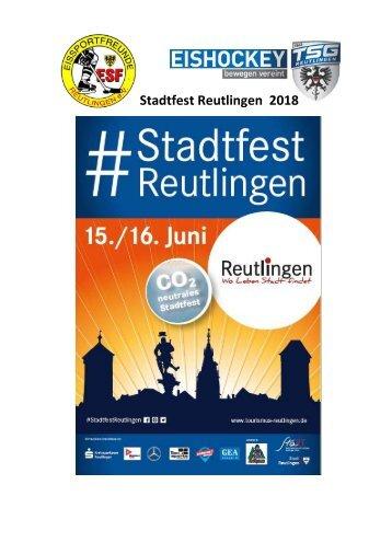 Stadtfest Reutlingen 2018
