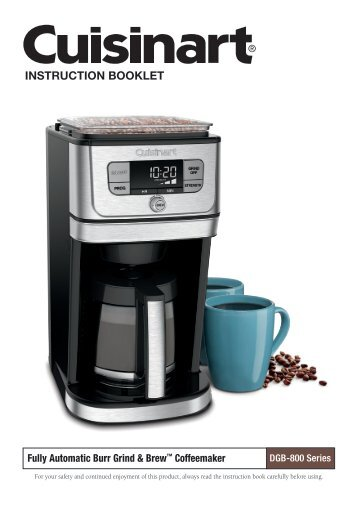 Dgb 600a Grind Brew Coffee Maker Instruction Cuisinart