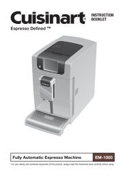 Cuisinart Espresso Defined™ Fully Automatic Espresso Machine -EM-1000 - MANUAL