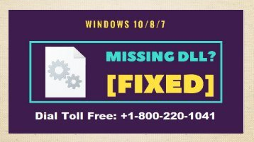 Fix Windows d3dcompiler 46 DLL Missing Error 1-800-220-1041 Dial