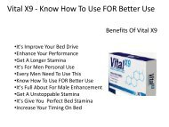 Vital X9 - Get A Unstoppable Stamina