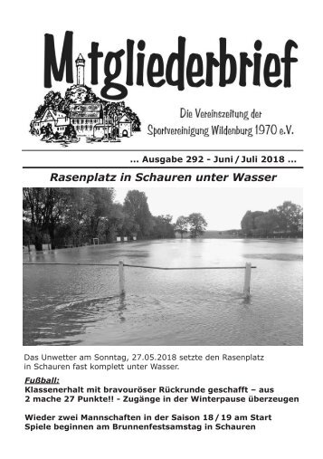 Ausgabe 292 - Juni/Juli 2018