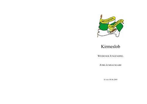 Kirmeslob Jubiläumsausgabe 2009