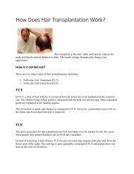 How Does Hair Transplantation Work...