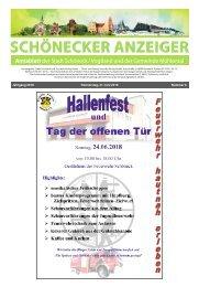 Schönecker Anzeiger Juni 2018